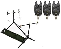 Carp Session Multi Rod Pod With Indicators 3 Bite Alarms With Tone & Vol And Batteries by Carp-Corner
