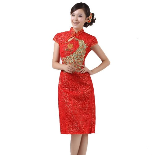 Buluos Phoenix Bird Embroidery Lace Chinese Wedding