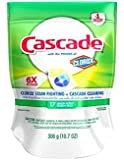 Cascade ActionPacs Dishwasher Detergent with Extra Bleach Action, Lemon Scent, 17-Count