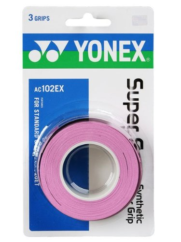 Yonex Super Grap Overgrip - 3 pack in French Pink - 1