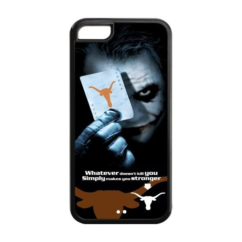 NCAA Texas Longhorn With Joker Poker Slim Fit Iphone 5C Plastic And TPU Silicone Back Case Cover At customcasestore at Amazon.com
