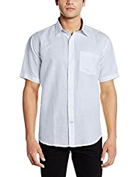 Greenfibre Men's Casual Shirt (91IT_38_White)