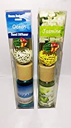 Reed Diffuser Set Ocean,Jasmine Refreshing Scents with Sticks& Decorative Ball