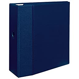 Avery Heavy-Duty Binder with 5-Inch One Touch EZD Ring, Navy Blue (79826)