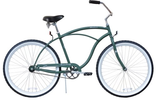 Men's Urban Man Classic Beach Cruiser Bike Color: Army Green