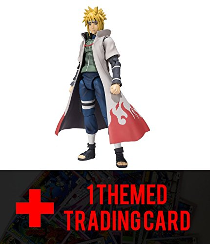 "Bandai Tamashii Nations Namikaze Minato ""Naruto Shippuden"" Action Figure includes One Anime Themed Trading Card Bundled"