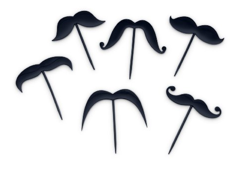 Fred and Friends LIP SERVICE Mustache Toothpicks