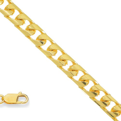 "10K Real Yellow Gold 5.3Mm Lite Miami Curb 8.5"" Mens Bracelet"