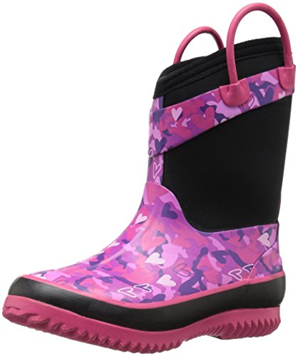 Western Chief Girls' Neoprene Snow Boot, Heart Camo, 11/12 M US Little Kid (Neoprene Rain Boot Liners compare prices)