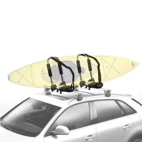 2 Car Roof Top Mounted Kayak Canoe Surf Carrier