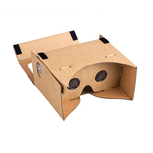 Wecharger 45mm Focal Length Virtual Reality Google Cardboard with Printed Instructions and Easy to Follow Numbered Tabs-Perfect fit for Samsung Galaxy Note 4 and Note 3,iPhone6 and iPhone6 PLUS-Large Box Color