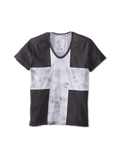 Religion Men's Oversize Croshort Short Sleeve V-Neck Tee