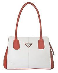 Fostelo Women's Xavier Shoulder Bag (White) (FSB-653)