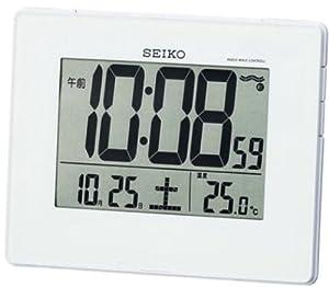 SEIKO CLOCK (セイコークロック) 掛け時計 目覚まし時計 兼用 デジタル 電波時計 SQ697W