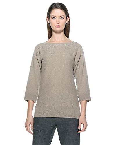 100% Cashmere Pullover Con Borchiette