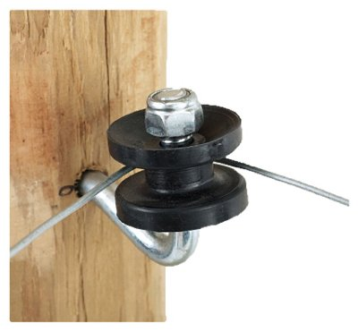 Dare Products 451 Electric Fence Corner Post Bracket Kit, Black - Quantity 5
