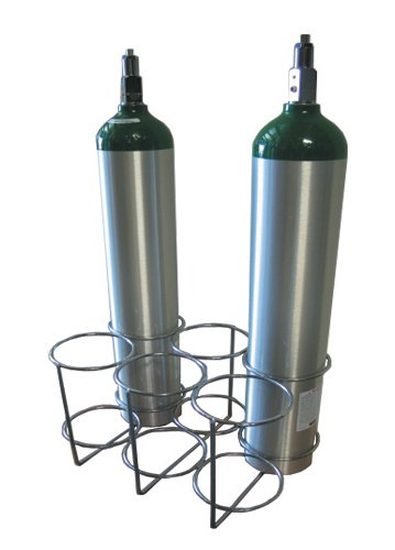 6 Oxygen Tank Cylinder Rack (Sizes, E, D, C, or M9)