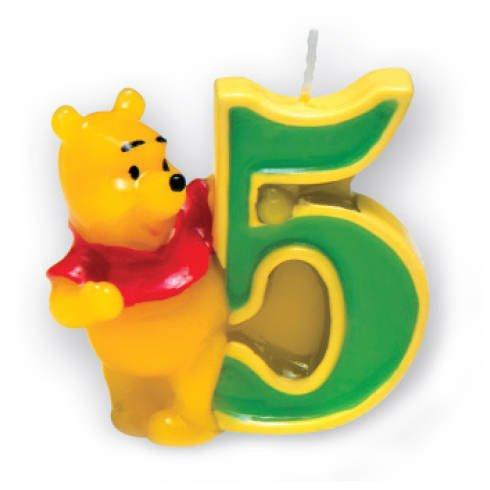 Kerze 5 Winnie Pooh, 3D