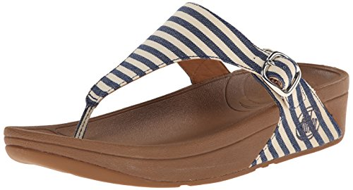 FitFlop Women's The Skinny Fabric Flip Flop, Blue, 8 M US (Fitflop compare prices)