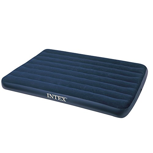 Intex 68758 Materassino Downy, cm 137X191X22 , I.3, Blu