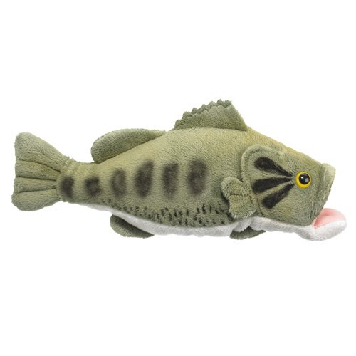 "Large Mouth Bass Plush Toy 10"" front-447358"