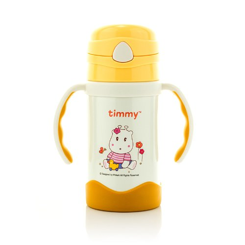 Timmy Stainless Steel Straw Kid's Bottle ,Bpa-free,tmy-3262 (yellow)
