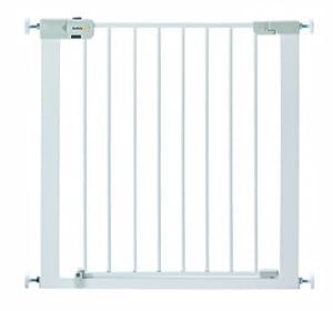 Safety 1st Easy-Close - Barrera de seguridad de metal, color blanco - BebeHogar.com