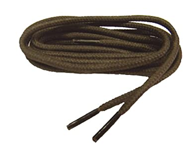 45 Inch 114 cm Waxed Heavy Chocolate Brown Polyester Boot Laces Shoelaces - 2 Pair Pack