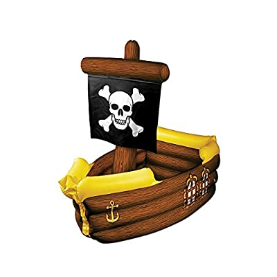 "Beistle Party Decoration Accessory Inflatable Pirate Ship Cooler 3' 3""W X 33""H Pack Of 1"
