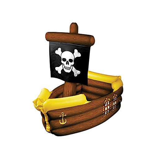 Beistle-Party-Decoration-Accessory-Inflatable-Pirate-Ship-Cooler-3-3W-X-33H-Pack-Of-1