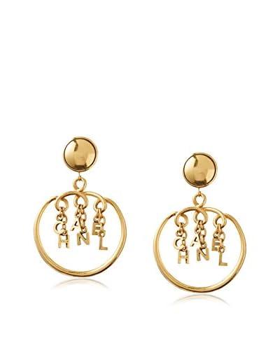 CHANEL Letters Dangle Earrings