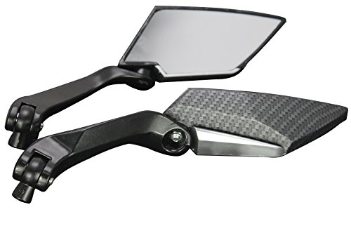 Black Carbon Motorcycle Cruiser Custom Rearview Mini Mirrors For 1983 Harley-Davidson Super Glide Electric Start Fxe