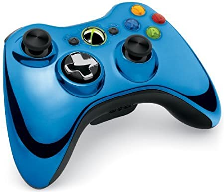 Xbox 360 Wireless Controller mit umschaltbarem D-Pad, chromblau (Limited Edition)