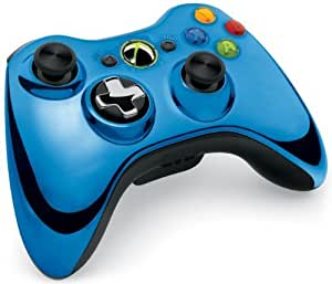 Official Xbox 360 Wireless Controller - Chrome Blue (Xbox 360)