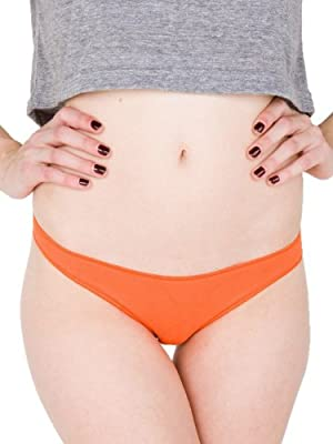 American Apparel Cotton Spandex Jersey Invisi-Thong from American Apparel