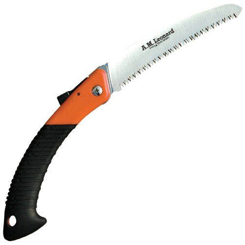 "A.M. Leonard Tri-Edge Folding Pruning Saw With 7"" Curved Blade"