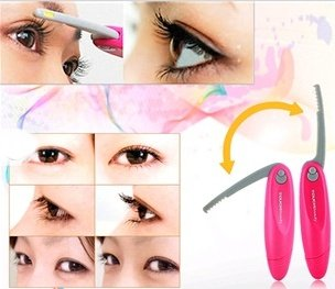 Folding Heated Eyelash Curler (Purple)