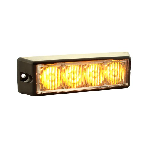 Lamphus Solarblast 4W Led Emergency Vehicle Deck Grille Strobe Warning Tow Truck Light Head ( Other Color Available ) - Amber