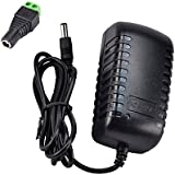 Wovte® (2 Pack)New DC 12V 2A 2.0A Switching Power Supply Adapter For 110V- 240V AC 50/60Hz 2.1mm