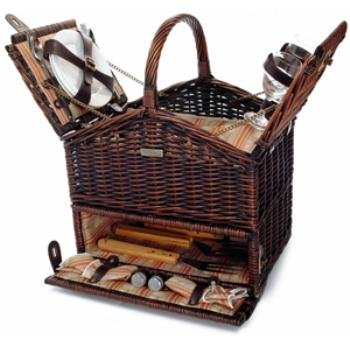 The Classique Elite Basket *** Product Description: The Classique Elite Basketpb1-3545Picnic Basket With Three BBQ Tools And Service For Two With Large Insulated Food Compartment ? Content: 2 Sets Of S/S Flatware 1 Set Of BBQ Tool2 Ceramic Plates ***