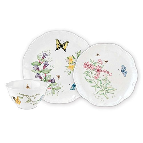 Lenox Butterfly Meadow 12-PC Dinnerware Set, Service for 4 (Lenox Rice Bowl Set compare prices)