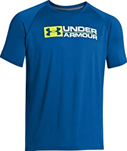 Under Armour Shirt Wordmark Tee - Camiseta, color azul, talla L