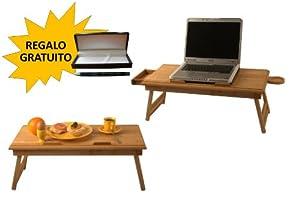 Tavolino portatile per laptop tavolino per pc portatile - Tavolino da letto per pc ...