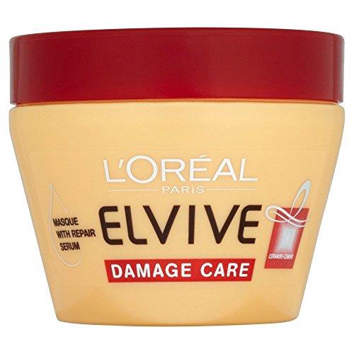 L' Oreal-Elvive Damage Care Balsamo per capelli maschera con riparazione siero-300ml