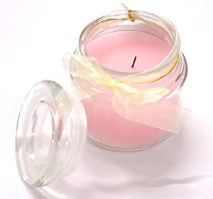 Forsyth and Mason flameless scented candle in glass jar Rose from Forsyth and Mason