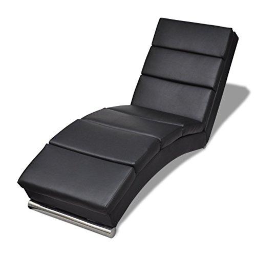 vidaXL-Relaxliege-Chaiselongue-Liegesessel-Lounge-Liege-Ruhesessel-schwarz