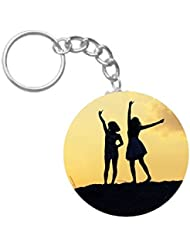 Friends Forever | ShopTwiz Circle Printed Key Rings - B01H043KEG