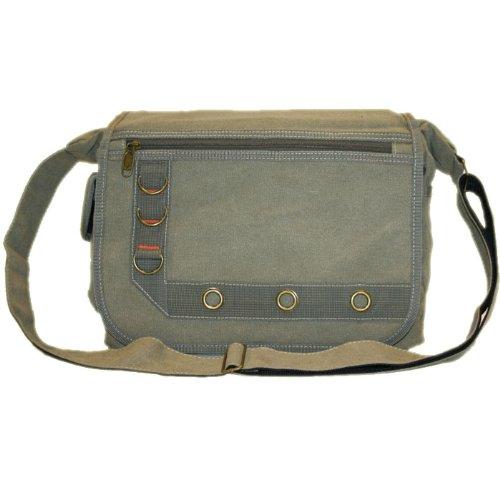 Canvas Cross Body / Messenger Shoulder Bag Khaki 312