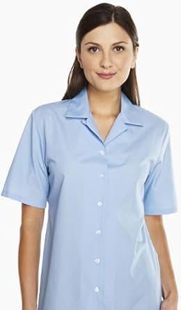 Simon Jersey Ladies Blue Short Sleeved Convertible Collar