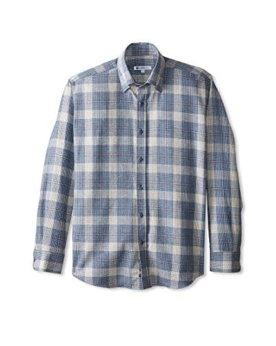 Café Bleu Men's Plaid Flannel Sportshirt